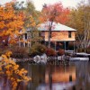 Boat House in Fall