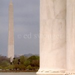 View of Washington Monument from Jefferson Memorial Daytime Enhanced