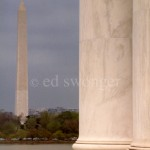 Daytime View of Washington Monument from Jefferson Memorial