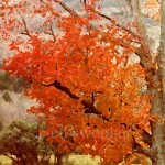 Orange Fall Tree Enhanced