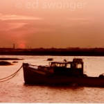 Fishing Boat at Sunset Enhanced