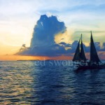 Key West Sunset with Sailboat Enhanced