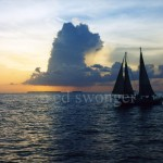 Key Wes Sunset with Sailboat