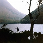 Fisherman in Mountain Lake Enhanced