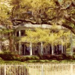 White House and Trees in Spring, Savannah Enhanced