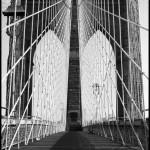 Brooklyn Bridge Boardwalk - Black & White