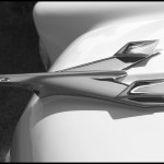 1956 Chevy Hood Ornament - Black & White
