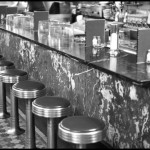 Drug Store Soda Fountain - Black & White