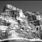 Grand Canyon Peak - Black & White