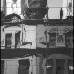 57th Street Townhouse Reflection - Black & White