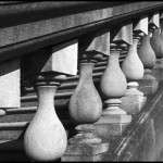 Old Westbury Balustrade - Black & White