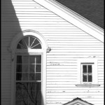 New England Colonial - Black & White