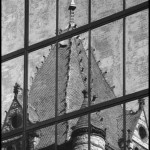 Trinity Church Reflection - Black & White