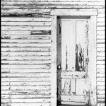 White Wall and Door - Black & White